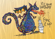 Happy Birthday Dragon Give a Fig Card