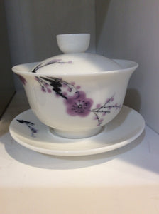Hand-Painted Gaiwan, Plum - Eastern Elm