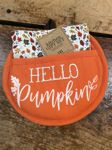 Gift Set - Hello Pumpkin Potholder (DII)