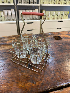 Chai Rack with 4 Glasses