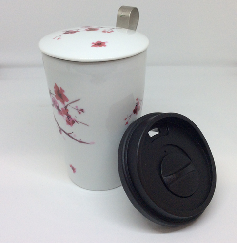 Cherry Blossom Mug and Travel Lid