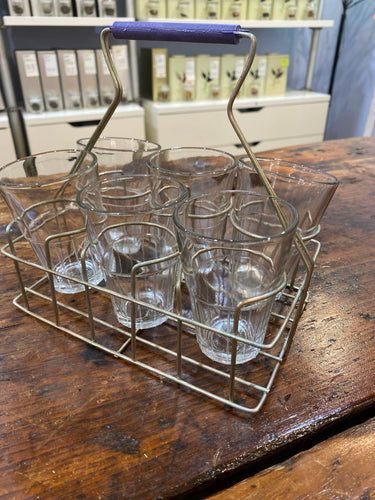 Chai Rack with 6 Glasses