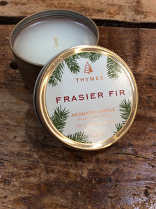 Thymes Frasier Fir Travel Candle Tin
