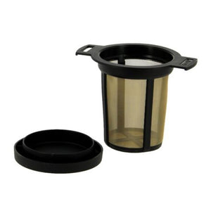 Tea Strainer / Filter Stainless Steel and  Black  Teeli