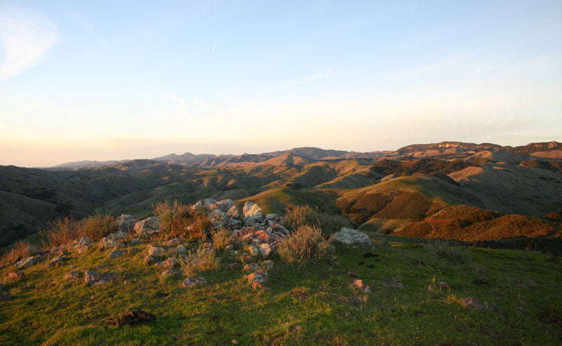 ridge view to san simeon from cottontail creek ranch in cayucos