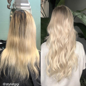 "Golden Ash Blonde (#23) 20"" Keratin Tip"