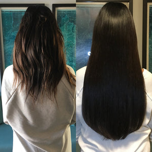 "Off Black(#1B) 20"" Keratin Tip- ON BACKORDER"