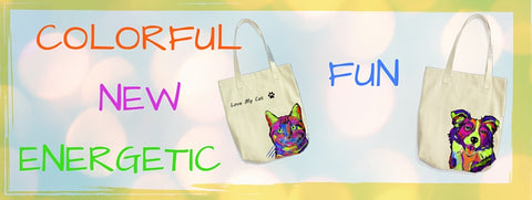 Color Pet Themed Tote Bag Designs