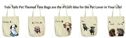 custom illustrated pet tote bags by tote tails