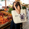 custom illustrated pet tote bag