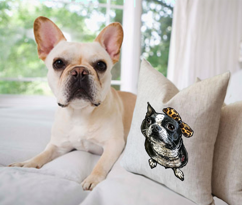 Custo Pet Throw Pillows