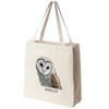 Barn Owl Portrait Color Design Extra Large Eco Friendly Reusable Cotton Canvas Tote Bag