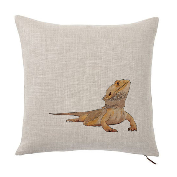 Bearded Dragon Color Portrait Design Cotton Linen Square Decorative Throw Pillow Case Cushion Cover 18