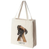 American Boxer Color Portrait Design Extra Large Eco Friendly Reusable Cotton Canvas Tote Bag