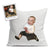 Custom Photo Baby Linen Throw Pillow by Tote Tails