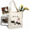 Custom Baby & Pet Photo Tote Bag by Tote Tails