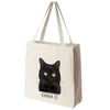 Black Cat Color Portrait Design Extra Large Eco Friendly Reusable Cotton Canvas Tote Bag