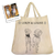 Custom Pet Outline Tote Bag by Tote Tails