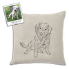 Custom Pet Outline Throw Pillow Covers by Tote Tails
