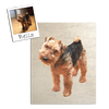 Custom Pet Photo Stretched Canvas Art by Tote Tails
