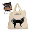 Custom Pet Silhouette Tote Bags by Tote Tails