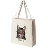 Domestic Short Hair Cat Color Portrait Design Extra Large Eco Friendly Reusable Cotton Canvas Tote Bag