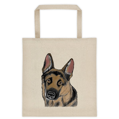 German Shepherd Extra Large Eco Friendly Reusable Cotton Canvas Tote Bag