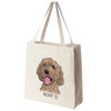 Labradoodle Color Portrait Design Extra Large Eco Friendly Reusable Cotton Canvas Tote Bag