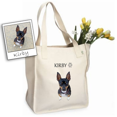 Custom Pet Photo Tote Bag by Tote Tails