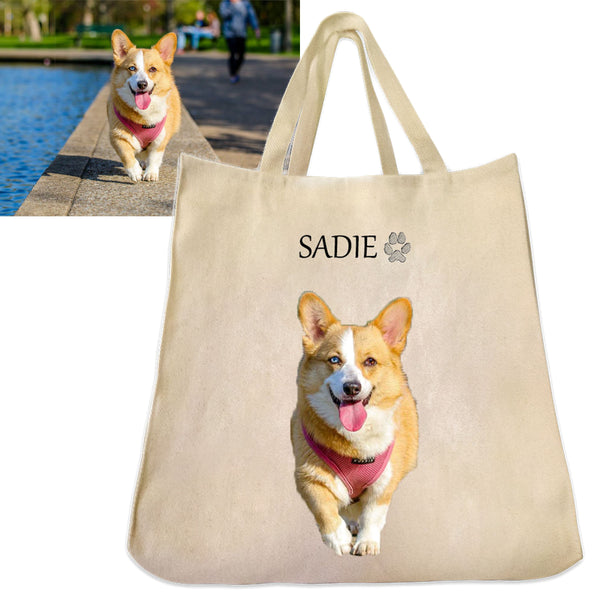 Custom Pet Photo Tote Bag