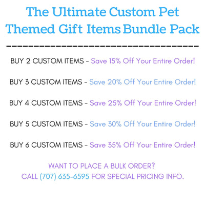 "The Ultimate ""Build Your Own"" Custom Pet Themed Items Gift Pack Bundle"