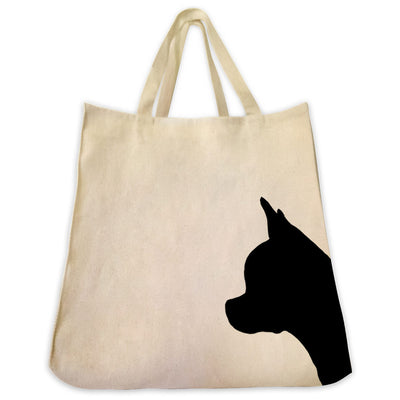 Chihuahua Silhouette Extra Large Eco Friendly Reusable Cotton Canvas Tote Bag by Tote Tails