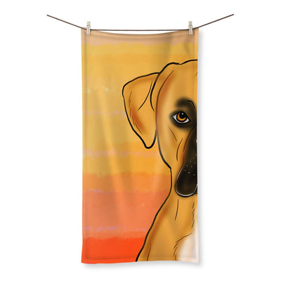 Homeware - Boxer With Sunset Background Designs By Amitie Beach Towel