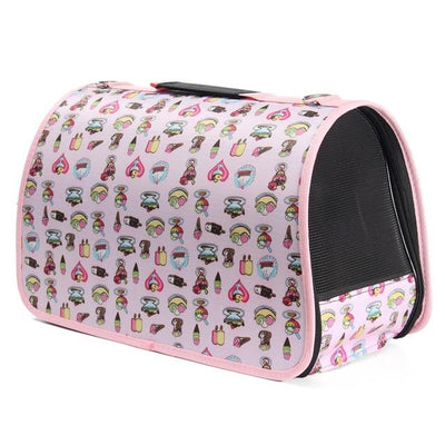 L Size Portable Travel Pet Carrier Puppy Tote Bag Dog Cat House Kennel Waterproof Breathable Pet Cage Pet Favor Shoulder Bag