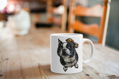 Custom Illustrated Pet Coffee & Tea Mugs by Tote Tails