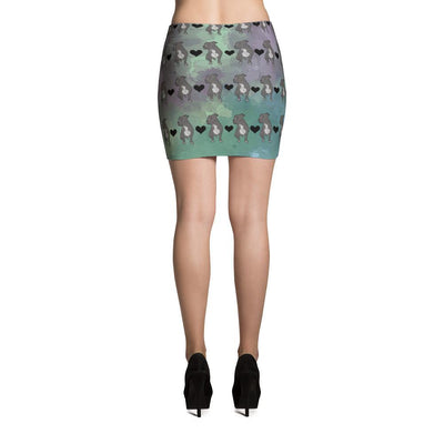 Pit Bull Watercolor Pattern Mini Skirt