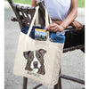 Blue Nose Pit Bull Dog Color Portrait Design Extra Large Eco Friendly Reusable Cotton Canvas Tote Bag
