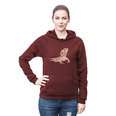 Re-usable Tote Bag - Bearded Dragon Fleece Pullover Hoodie