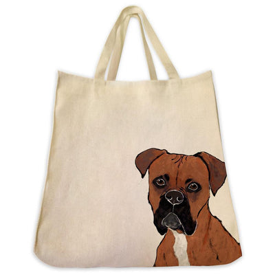 Re-usable Tote Bag - Boxer Dog Extra Large Eco Friendly Reusable Cotton Canvas Tote Bag