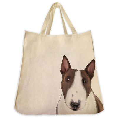 Re-usable Tote Bag - Bull Terrier Extra Large Eco Friendly Reusable Cotton Canvas Tote Bag