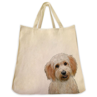 Re-usable Tote Bag - Cavachon Extra Large Eco Friendly Reusable Cotton Canvas Tote Bag