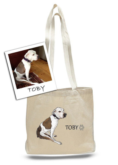 Re-usable Tote Bag - Custom Pet Messenger Bags By Tote Tails