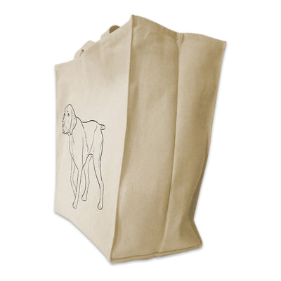 Re-usable Tote Bag - German Shorthair Pointer Outline Full Body Design Extra Large Eco Friendly Reusable Cotton Canvas Tote Bag