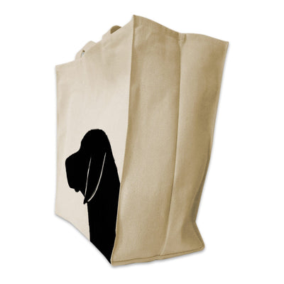 Re-usable Tote Bag - German Shorthair Pointer Silhouette Extra Large Eco Friendly Reusable Cotton Canvas Tote Bag