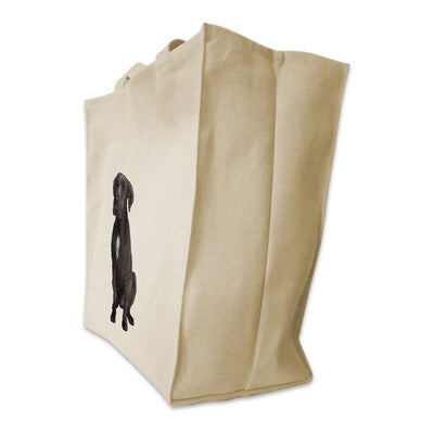 Re-usable Tote Bag - Italian Mastiff Design Extra Large Eco Friendly Reusable Cotton Canvas Tote Bag