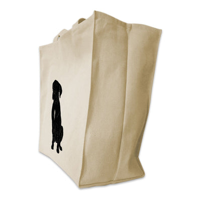 Re-usable Tote Bag - Italian Mastiff Silhouette Design Extra Large Eco Friendly Reusable Cotton Canvas Tote Bag