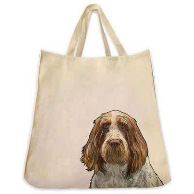 Re-usable Tote Bag - Italian Spinone Dog Extra Large Eco Friendly Reusable Cotton Canvas Tote Bag