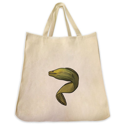 Re-usable Tote Bag - Moray Eel Extra Large Eco Friendly Reusable Cotton Canvas Tote Bag