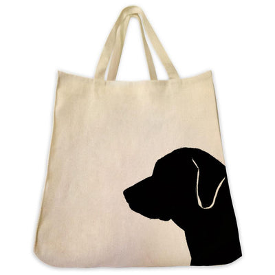 Re-usable Tote Bag - Rhodesian Ridgeback Silhouette Extra Large Eco Friendly Reusable Cotton Canvas Tote Bag