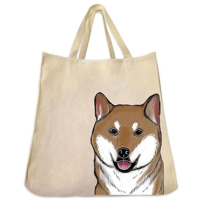 Re-usable Tote Bag - Shiba Inu Extra Large Eco Friendly Reusable Cotton Canvas Tote Bag